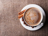 Aroma cappuccino coffee — Stock Photo