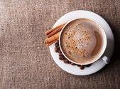 Aroma cappuccino coffee — Stock Photo
