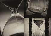 Closeup of hourglass clock — Stock Photo