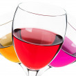 Glasses with alcohol drink — Stock Photo