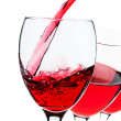 Red wine glasses — Stock Photo