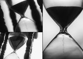 Macro photo of sand hourglass — Stock Photo