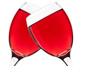Two red wine glasess — Stock Photo