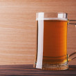 Mug with beer — Stock Photo