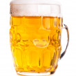 Mug of beer isolated — Stock Photo