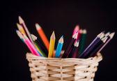 Pencils on background — Stock Photo