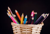 Pencils on background — Fotografia Stock