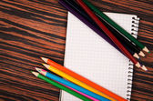 Notebook and pencils — Foto de Stock