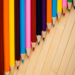 Concept of color pencils — Stock Photo