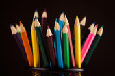 Closeup of colored pencils — Stock Photo