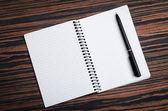 Empty notebook — Stock Photo
