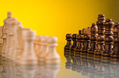 Pieces in chess game — Stock Photo