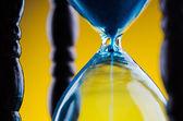 Closeup of retro hourglass — Stock Photo
