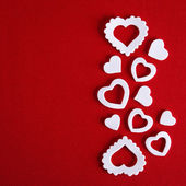 White hearts symbol — Stock Photo