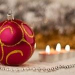 Red christmas ball — Stock Photo #8669534