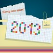 New Year greeting card. Congratulations to the 2013 — Stock Vector