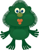 Good green man. applicative solution — Stock Vector