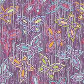 Embutido inconsútil de imagen mosaico de la mariposa. Fondo Lila, alas multicolor. textura que simula arañazos profundos — Vector de stock
