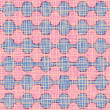 Stock Vector: Vector seamless pattern. wavy pink decor and fabric texture