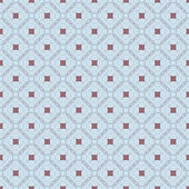 Vector seamless pattern. Retro style in gray and blue tones. Openwork of oval curves — Stock Vector