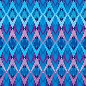 蓝色的无缝的嵌体的折线。冬季图案. — 图库矢量图片