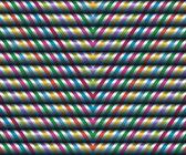 Vector naadloze decor. grote zigzag satijnen linten — Stockvector