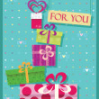 Greetings card for shopping lovers — Stock Vector