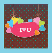 Greetings card for lovers. Declaration of love — Stock Vector