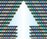 La composition de la tuyauterie horizontale enveloppé avec des rubans lumineux. flèche vers le haut — Vecteur