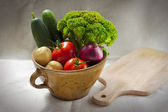 Vegetables in a pot — Stock Photo