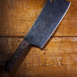 Old butcher's cleaver — Stock Photo