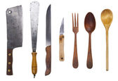 Rustic utensil set — Stock Photo