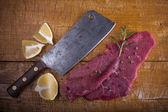Butcher's still life — Stock Photo