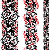 Haida style tattoo pattern — Stock Vector