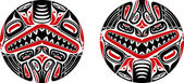 Haida style tattoo design — Stock Vector