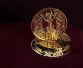Golden devil from Codex Gigas — Stock Photo
