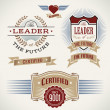 Set of badges and banners made in vintage style. - Stockvectorbeeld