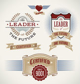 Set of badges and banners made in vintage style. — Stock Vector
