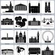 London icons — Vector de stock