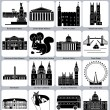 London icons — Stockvektor