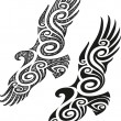 Maori tattoo pattern - Eagle — Stock Vector