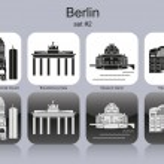 Berlin icons — Stock Vector #35808447