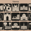 Vienna icons — Stockvectorbeeld