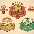 Soccer champs labels — Stock Vector