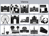 Vienna icons — Stock Vector
