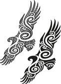 Maori tattoo pattern - Eagle — Stock Vector