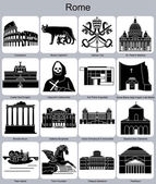 Rome icons — Stock Vector