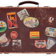 Old leather suitcase — Stock Photo
