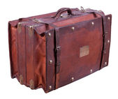Old leather suitcase — Stock fotografie
