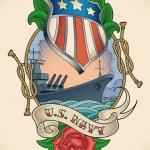 ������, ������: US Navy tattoo